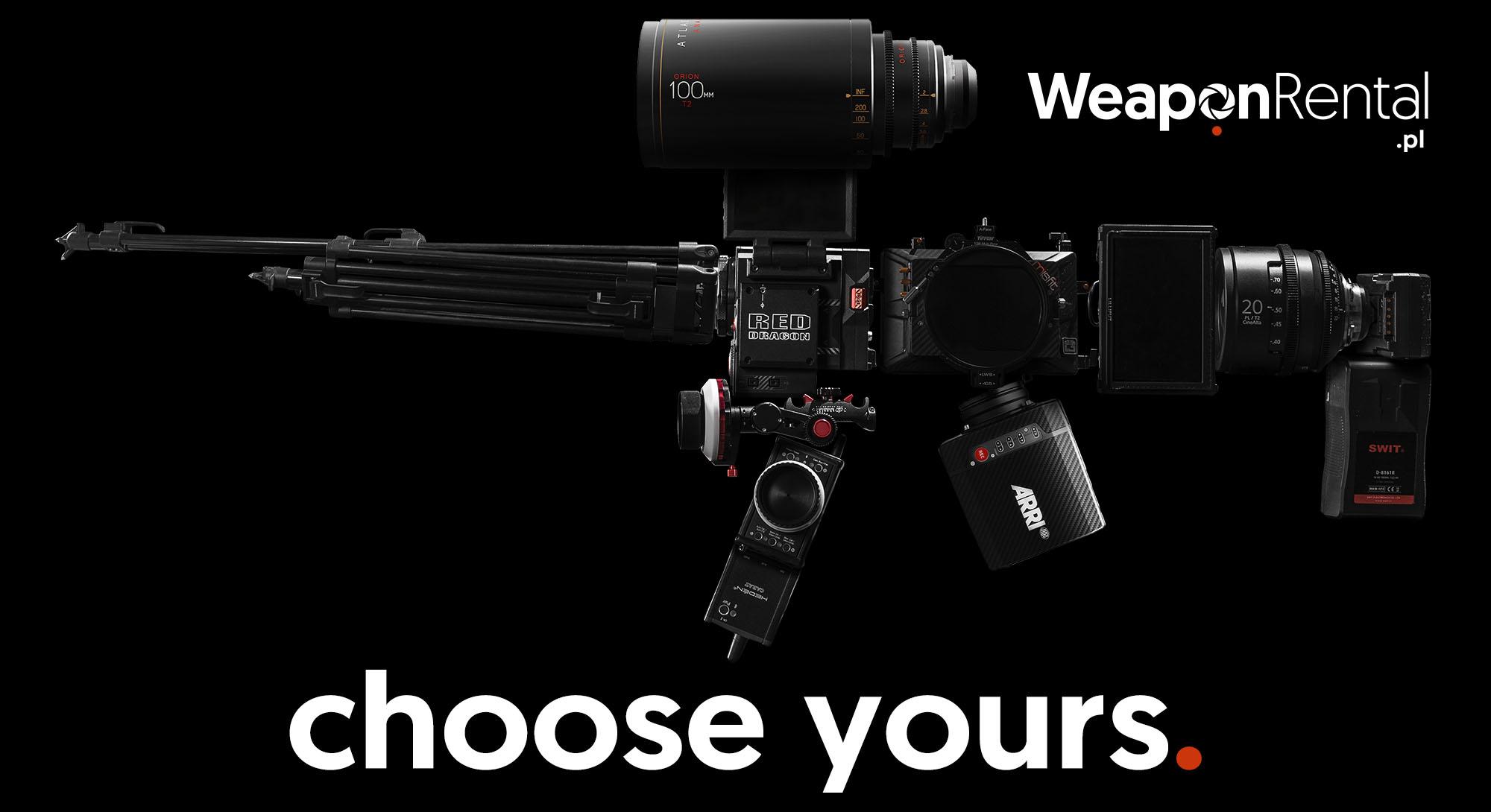 wypożyczalnia kamer Red Dragon Arri Alexa Mini Weapon Rental