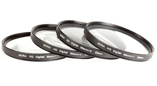 pierścienie makro close-up diopters 62mm