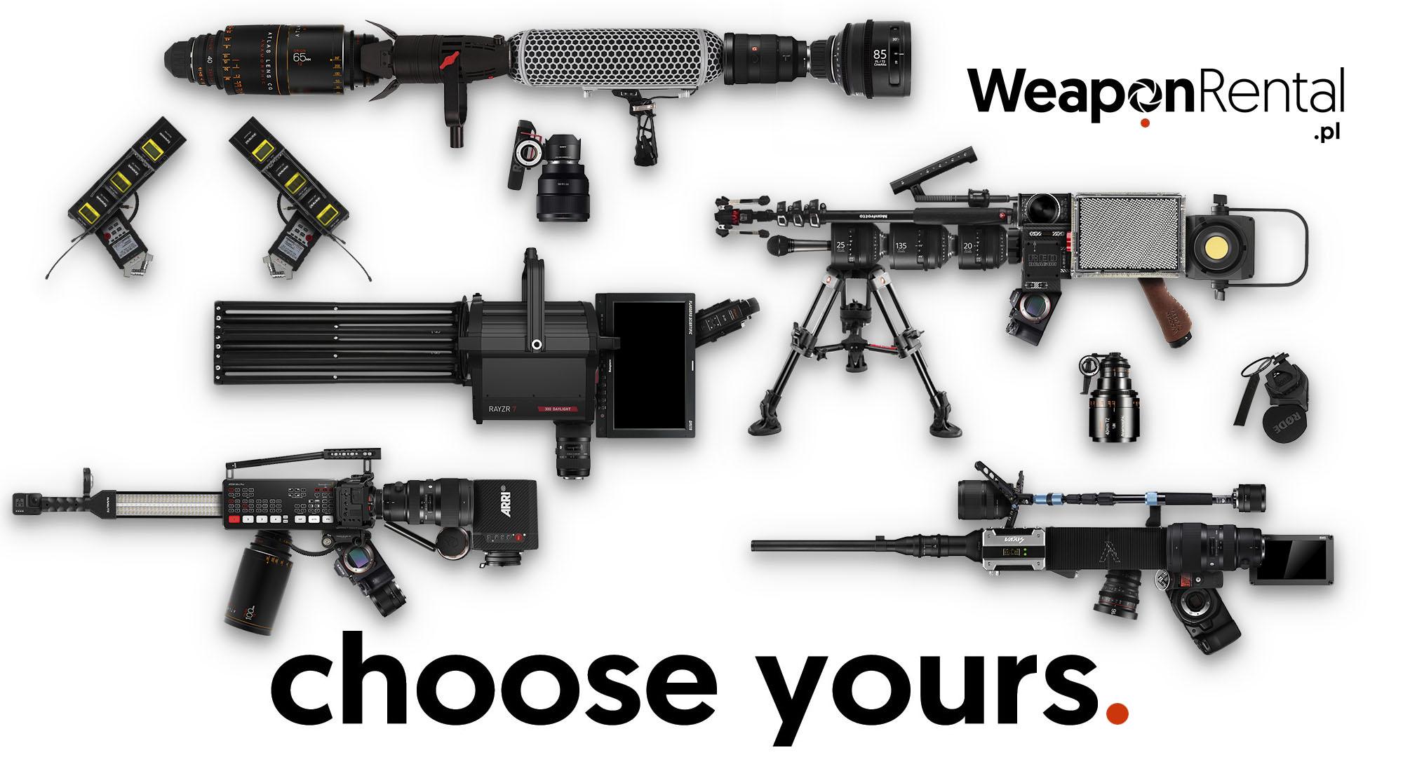 wypożyczalnia sprzętu filmowego kraków weapon rental